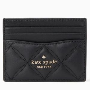 ♠️ NWT Kate Spade Black Quilted Small Card Holder